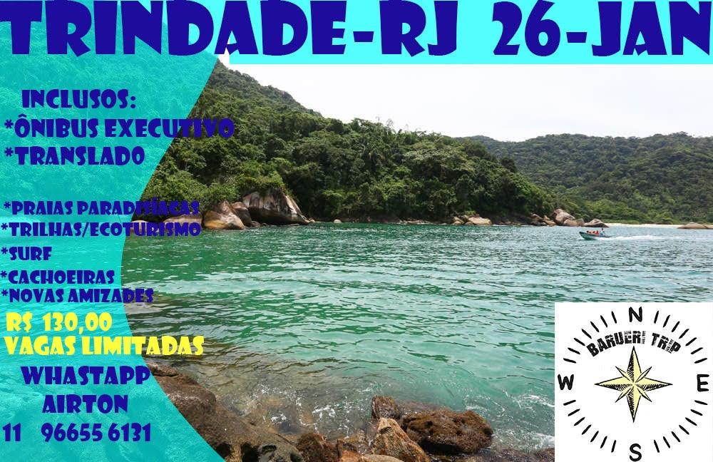 Trip Barueri – Vila de Trindade (Paraty-RJ) – Reservas 1°Lote