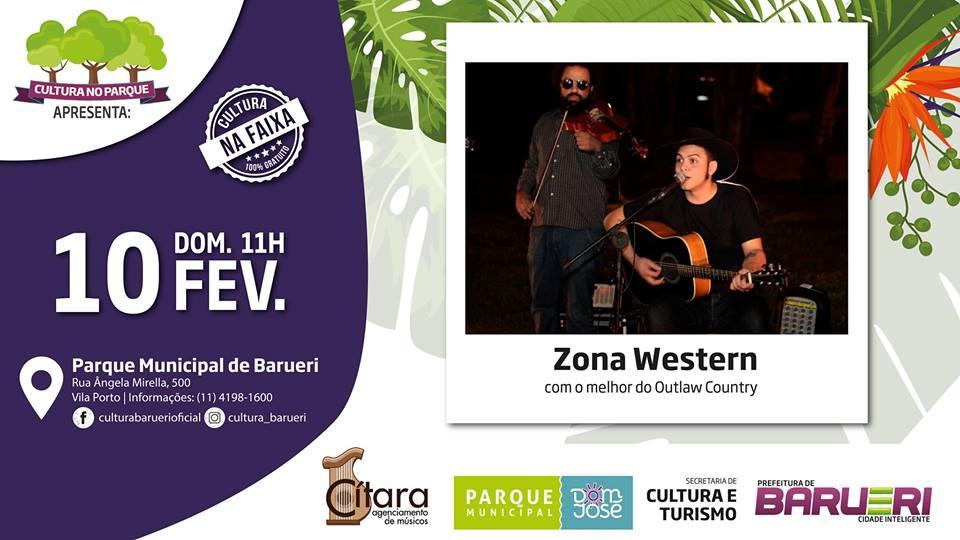 """Cultura no Parque apresenta  a banda """"Zona Western"""""""
