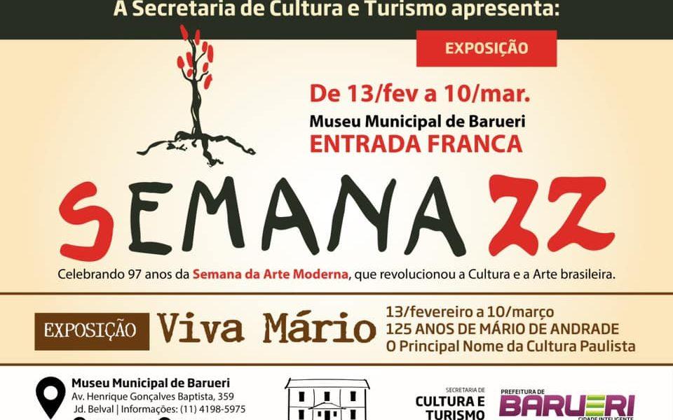 """Exposição """"Semana 22"""" no Museu Municipal de Barueri"""