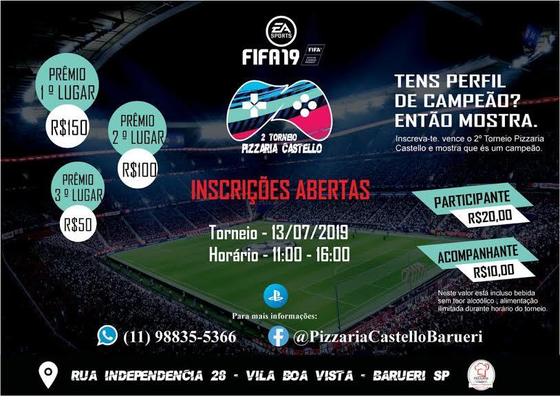 FIFA 19 – 2º Torneio Pizzaria Castelo