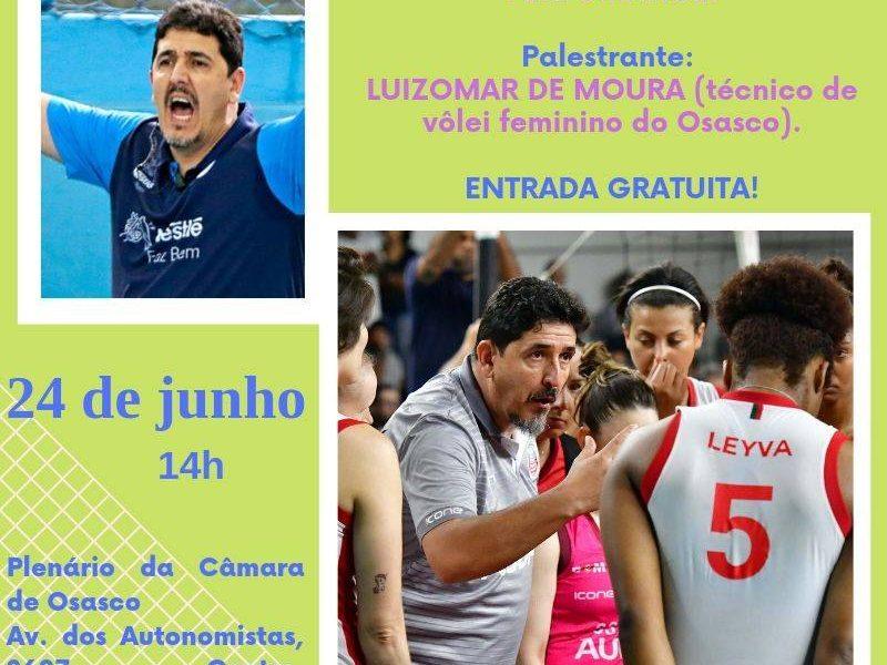 """Palestra """"Liderança de equipes de alta perfomance"""" com o Técnico Luizomar de Moura."""