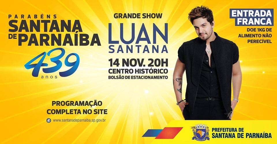Show com Luan Santana em Santana de Parnaíba