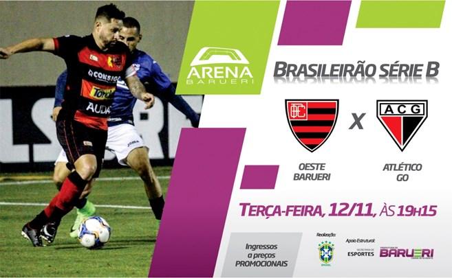 Futebol – Brasileirão Série B – Oeste Barueri x Atlético (GO)